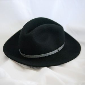 Wool Metallic band Felt Panama Hat